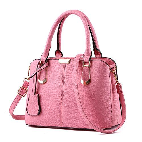 Meoaeo Las Nuevas Bolsas De Moda Casual De Negocios Bolsa Bolsa Crossbody Retro Gris Oscuro Pink