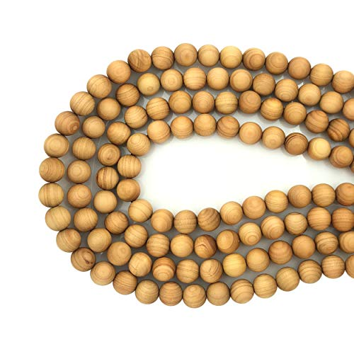 CarpenterC 200pcs 8mm Gorgeous Natural Round Polished Rosewood Loose Beads for Jewelry Making DIY Handmade ()