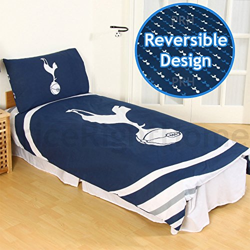 Tottenham Hotspur Fc Pulse Reversible Single Duvet Quilt Cover And Pillowcase by Tottenham Hotspur F.C.
