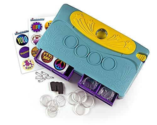 Choose Friendship Bundle My Image Button Maker Refill Kit, Kids Badge Button Kit, Blue/Yellow, Makes 30 Buttons