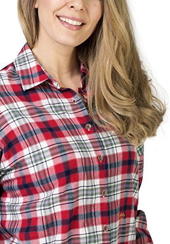 red Blusa Checked Check Logger Timezone Para Blouse 5215 Mujer Rot qYwB7E