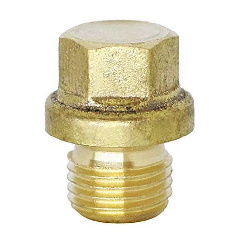 (2pcs) BelMetric M10X1 Flanged Brass Hex Head Corrosion Resistant Plug DIN 910 for Machinery, and Fittings, Sealing Washers Included DP10X1.0HBRS