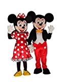 Mickey Mouse and Minnie Mouse Adult Mascot Costume Fancy Dress Outfit