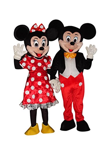 Mickey Mouse and Minnie Mouse Adults Mascot Costumes Fancy Dress Outfits ()