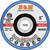 5'' x 1/16'' x 7/8'' CUT-OFF WHEELS for Stainless Steel &.Metal Cutting Disc Type 27 ( 50 PACK )