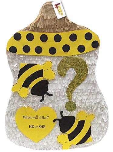 APINATA4U Bumblebee Baby Bottle Gender Reveal Pinata -