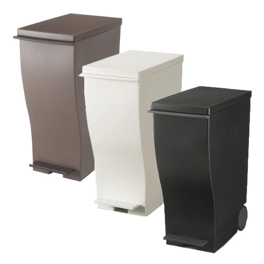 岩谷マテリアル kcud 30 スリムペダル 3個セット ゴミ箱 ごみ箱 ダストボックス おしゃれ ふた付き クード (オールブラウン×ホワイト×ブラック) B0742B6SV4 オールブラウン×ホワイト×ブラック オールブラウン×ホワイト×ブラック