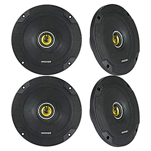 Kicker 40CS654 6.5-Inch 600W 2-Way Coaxial CS Series Speakers (4 Pack)