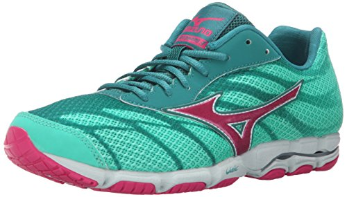 Racing Shoes Mizuno (Mizuno Women's Wave Hitogami 3 Running Shoe, Malibu Blue/Fuchsia Purple, 8 B US)