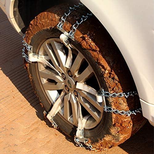 携帯用緊急牽引車のスノータイヤの滑り止めの鎖 タイヤチェーン 金属製 砕氷タイヤスノーチェーン、トラクションフォース雪ソックス、カーアンチスキッド緊急スノータイヤチェーン、 TPUバンおよび軽トラック用ユニバーサルフィットタイヤ繰り返し使用 (Size : 255/75R15)