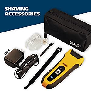 Wahl LifeProof Foil Shavers for Men, Electric Razors, Rechargeable WaterProof Wet/Dry Lithium ion with Precision Trimmers for Beard Shaving and Trimming, by the Brand used by Professionals #7061-100