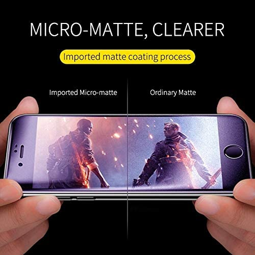 JIN Phone Screen Protector 25 PCS AG Matte Anti Blue Light Full Cover Tempered Glass for iPhone 6 Plus /& 6s Plus