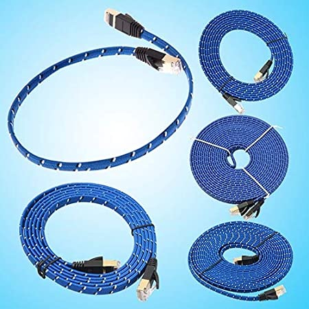 Cable Length: 10M Computer Cables Blue Cat 7 RJ45 Shielded Twisted Pair LAN Network Ethernet Cable Internet Cord 5DSA65