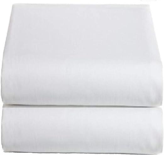 White Classic Sábanas Blancas de algodón Queen, Paquete de 2 – 200 ...