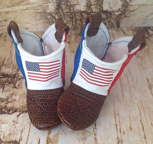 Us Flag American Baby Cowboy Boots With Leather Amazoncom