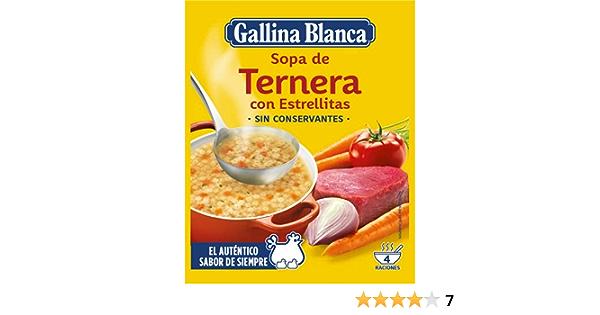 Gallina Blanca Sopa de Ternera con Estrellitas, 74g: Amazon ...