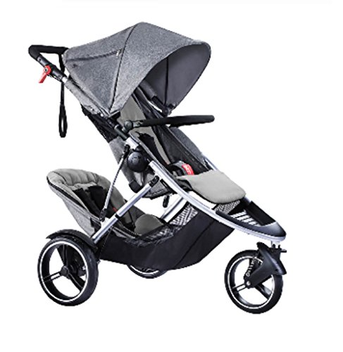 (Phil and Teds Dash Buggy With Doubles Kit (Grey Marl))