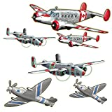 Wallies 15201 Airplanes Wallpaper Mural, 2-Sheet