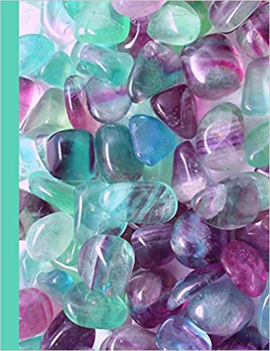 Fluorescent Fluorite Stones Dot Grid Notebook Journal (Crystal Stone Mineral Notebooks & Journals) by Ahri's Notebooks & Journals