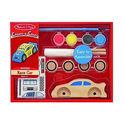 Melissa & Doug Decorate-Your-Own Wooden Race Car Craft Kit: Melissa & Doug: Toys & Games