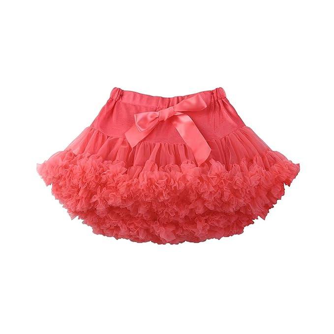 Falda de Niña,Color Sólido Tutu Falda Falda Adecuada para Bailar,Niñas de 2 a 8 Años,Hanomes ❤: Amazon.es: Ropa y accesorios
