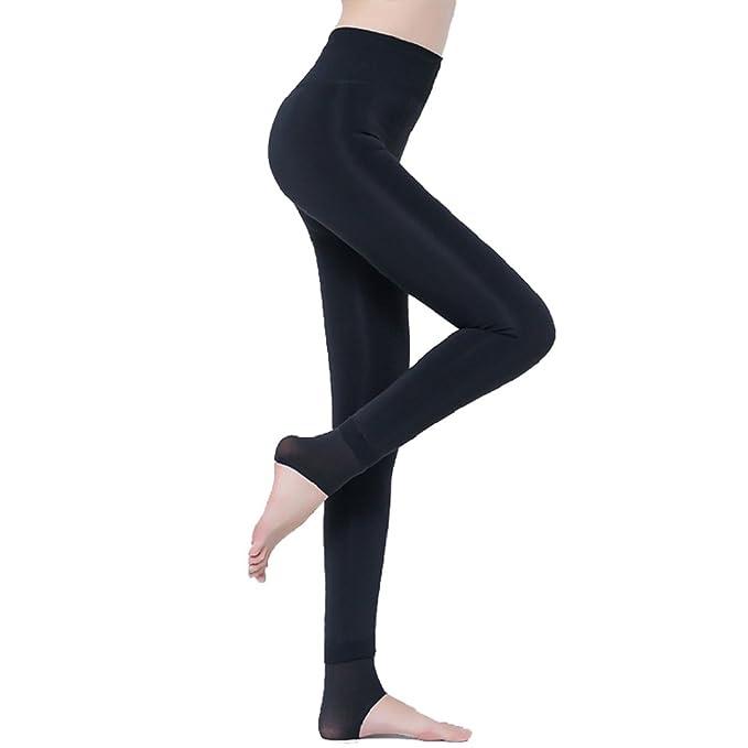 f26bc088bfd7 Tuopuda® Leggings Donna Invernali Termici Pantacollant Leggings Nero (nero)