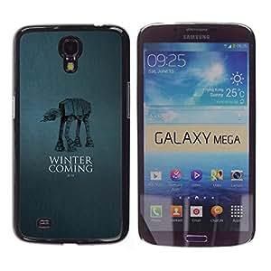 Cubierta protectora del caso de Shell Plástico    Samsung Galaxy Mega 6.3    Winter Is Coming - A A @XPTECH