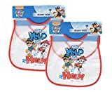 2-Pack Paw Patrol Dogs Just Yelp for Help Baby Bib 100% PEVA Velcro Closure