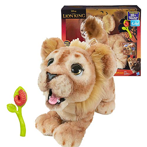 (Hasbro Disney The Lion King Mighty Roar Simba Interactive Plush Toy, Brought to Life by Furreal, 100+ Sound &-Motion Combinations, Ages 4 & Up)