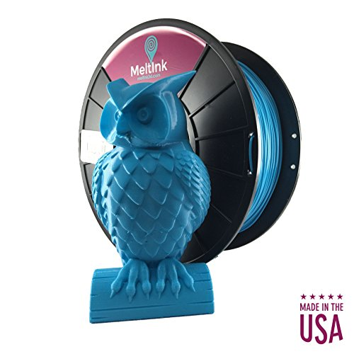 MeltInk3d Neon Blue 1.75mm PLA 3D Printer Filament 1Kg