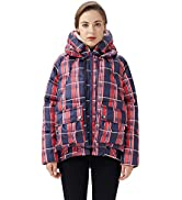 OROLAY Piumino Corto da Donna Multitasche Fashion Jacket con Cappuccio