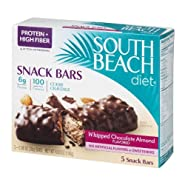 South Beach Diet Snack Bars Whipped Chocolate Almond Flavored - 5 CT