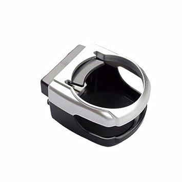 Wadoy plata plástico coche aire acondicionado soporte para soporte de ventilación bebida agua café puede botella