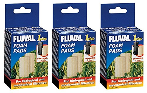 (6 Pack) Fluval 1 Plus Foam Insert (3 Packages with 2 Inserts (Underwater Filter Foam Insert)