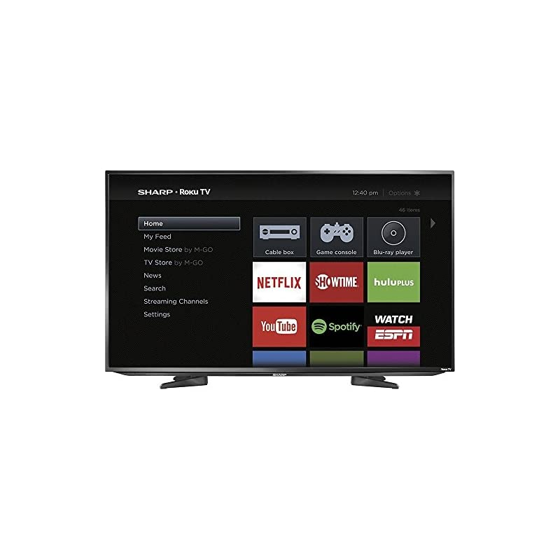 "Sharp 43"" Class LED 1080p Smart HDTV Rok"