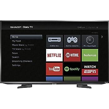 "Sharp 43"" Class LED 1080p Smart HDTV Roku TV"