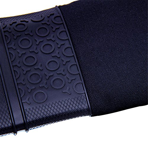 DoMii Professional Silicone Oven Mitts Extra Long Elbow Heat Resistant Quilted Gloves Industrial Grade by DoMii (Image #4)'