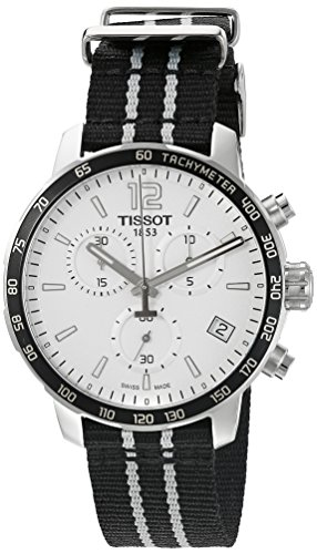 Tissot Men's 'Quickster' Swiss Quartz Stainless Steel and Nylon Watch, Color:Black (Model: T0954171703707)