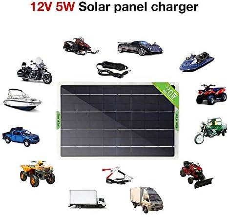 Solarpanel-Kit - 20W Solarpanel Tragbares IP65-wasserdichtes Solarpanel Für Van-Boot-Campingreisen, 23-24 Umsatz, Mit Krokodilklemme