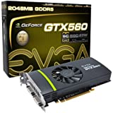 EVGA GeForce GTX 560 Superclocked 2048 MB GDDR5 PCI Express 2.0 2DVI/Mini-HDMI SLI Ready Graphics Card, 02G-P3-1469-KR