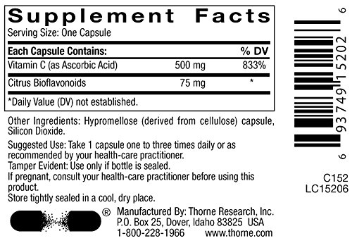 THORNE RESEARCH Vitamin C w/ Flavonoids 180ct [Health and Beauty]