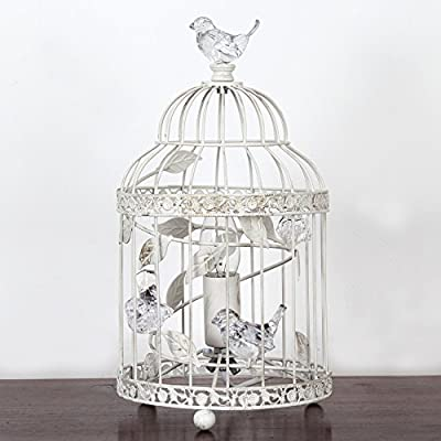 vintage bethany birdcage metal table lamp with acrylic birds - ivory Vintage Bethany Birdcage Metal Table Lamp with Acrylic Birds – Ivory 51o 2Byg tLOL