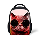 Hoijay Preschool Backpack, Little Kid Backpacks for Boys and Girls Sunglasses Cat