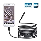 USB Endoscope, Teslong 2018 New 720P Upgrade 5.5mm Mini Inspection Camera Semi-rigid Waterproof Snake Camera Borescope with USB Adpater and 6 Adjustable LED Lights(5m/16.4ft)