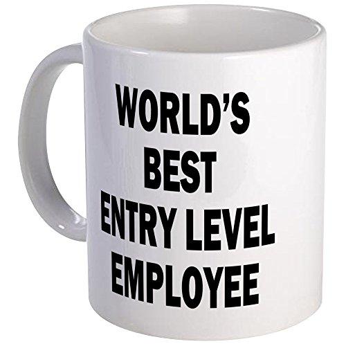 CafePress World's Best Entry Level Employee Mug Unique Coffee Mug, Coffee Cup