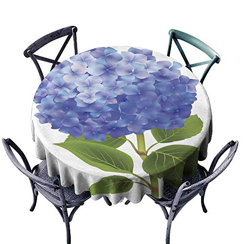 - Onefzc Waterproof Table Cover Blue Hydrangea Isolated Modern Minimalist 70
