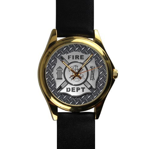 Christmas Day Gifts Firefighter Maltese Cross Fireman Unisex Gold-tone Round Metal (Gold Tone Maltese Cross)