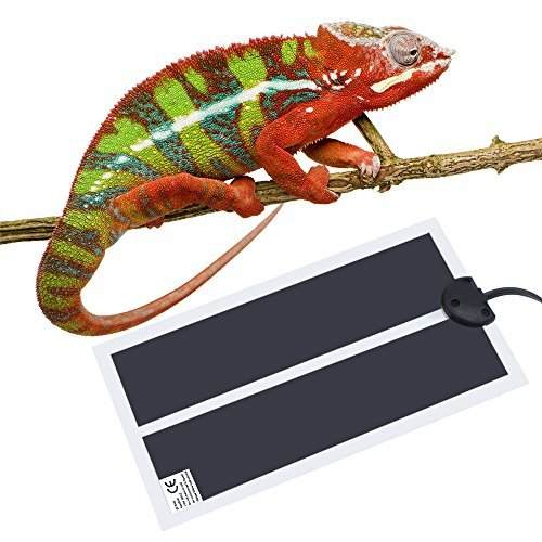 Reptile Pet Heating Pad Mat Bed, 110V US Plug Reptile Under Tank Warmer Mat Heating Mat with Temperature Controller (20W- 16.5x11 in)