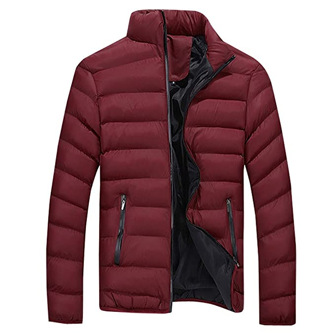 Amazon.com: Muranba Clearance Men Winter Stand Collar Warm Thick Coat Jacket: Clothing