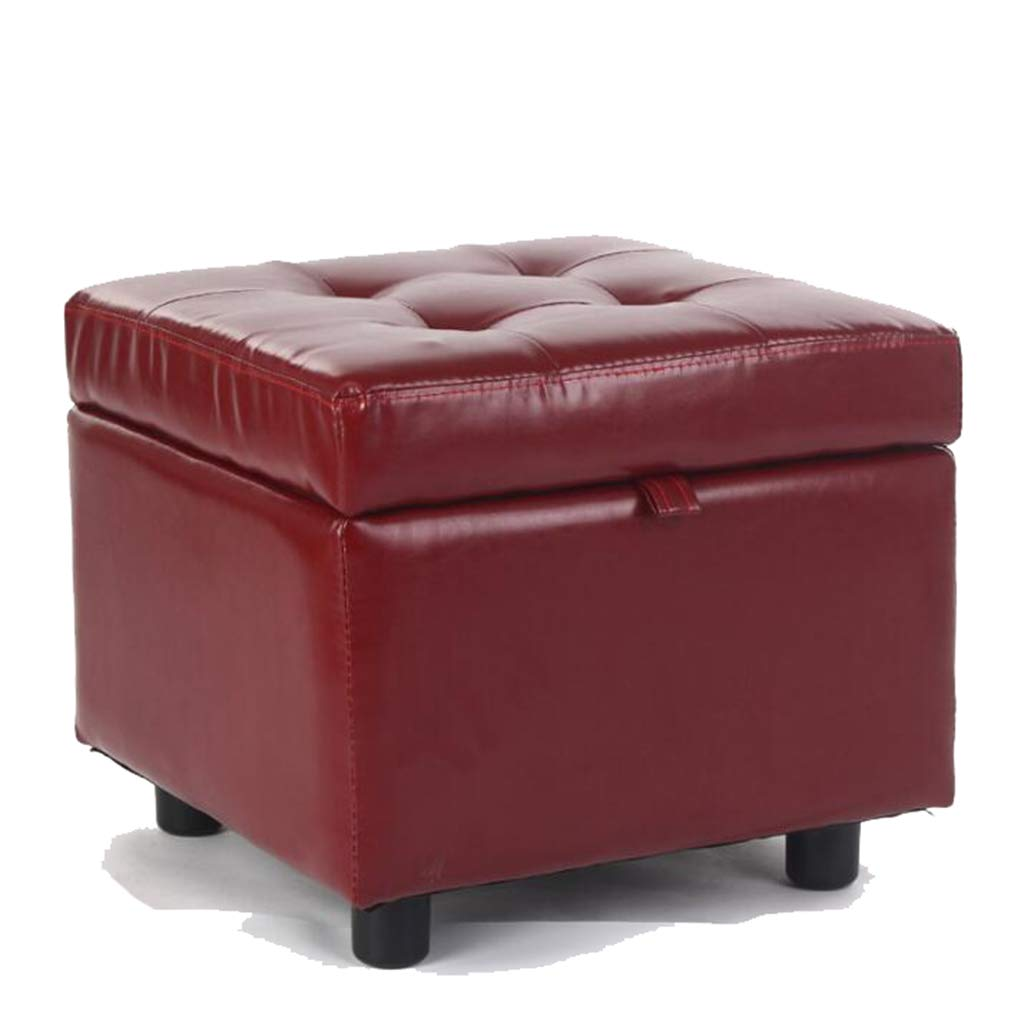 RED shoes Storage Stool Simple Bench Sofa Footstool shoes Stool for Living Room Bedroom Garden (color   RED)